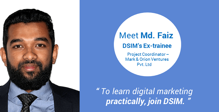 Review-by- Mohammed Faiz-(DSIM-Trainee)- To learn digital marketing practically, join DSIM