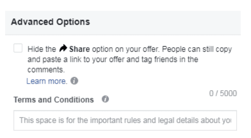 Facebook offer ad 4